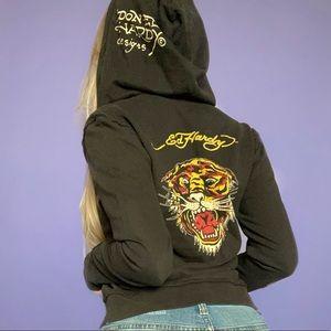 Ed Hardy Y2K Tiger Zip-Up Hoodie